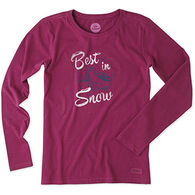 Life is Good Women's Painted Best in Snow Crusher Long-Sleeve Shirt