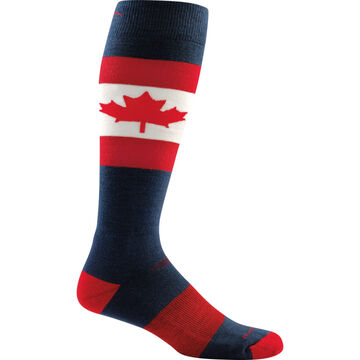 Darn Tough Vermont Mens O Canada Over-the-Calf Light Cushion Ski/Ride Sock