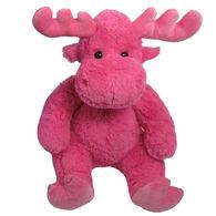 Wishpets Stuffed Sitting Pink Moose