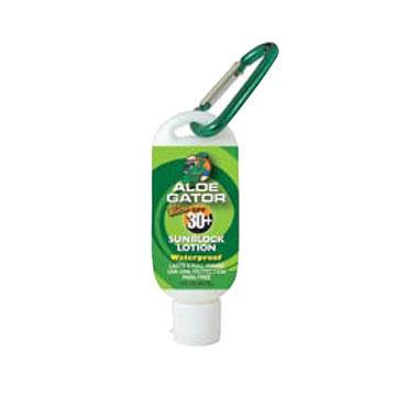 Aloe Gator SPF 30+ Lotion w/ Carabiner