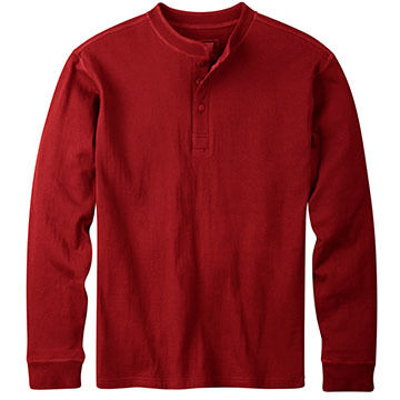 Mountain Khakis Mens Trapper Henley Long-Sleeve Shirt
