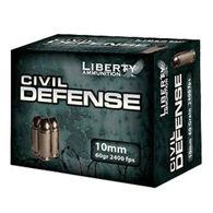Liberty Civil Defense 10mm 60 Grain Lead-Free HP Handgun Ammo (20)
