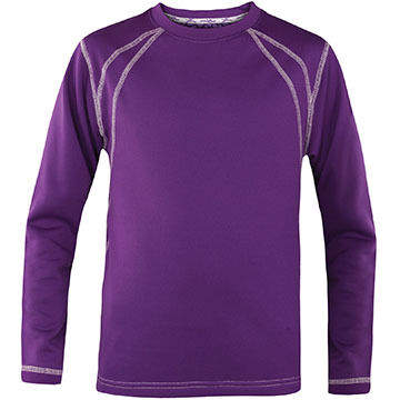 Terramar Sports Boys & Girls Genesis 3.0 Fleece Crew-Neck Baselayer Top
