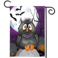BreezeArt Moonlight Owl Garden Flag