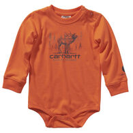 Carhartt Infant Boy's Printed Long-Sleeve Bodysuit Onesie