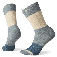 SmartWool Women's Color Block Cable Crew Sock