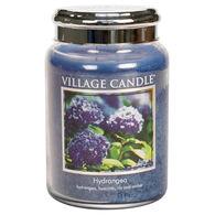 Village Candle Large Glass Jar Candle - Hydrangea