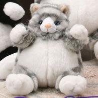 "Unipak Designs Plush 9"" Grey Cat Plumpee"
