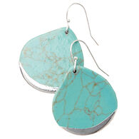 Scout Curated Wears Women's Stone Dipped Teardrop Earring - Turquoise/Silver