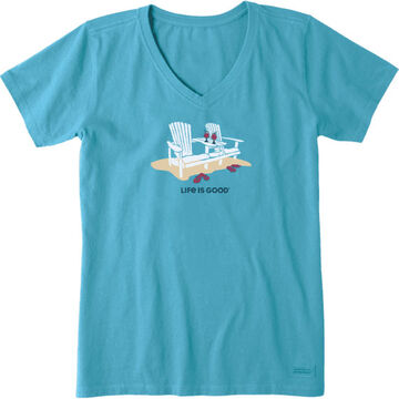 Life is Good Womens Adirondack Duet Crusher Vee Short-Sleeve T-Shirt