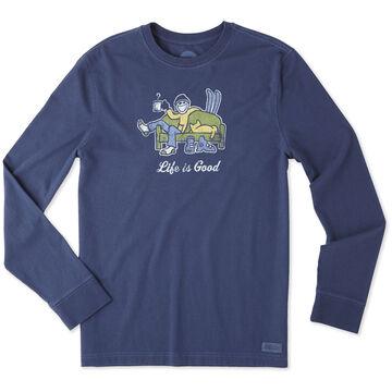 Life is Good Men's Apres Ski Long-Sleeve Crusher T-Shirt