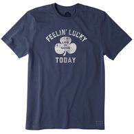 Life is Good Men's Feelin' Lucky Today Crusher Short-Sleeve Sleep T-Shirt
