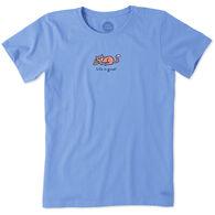 Life is Good Women's Cat Vintage Crusher Short-Sleeve T-Shirt