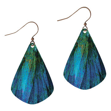Illustrated Lights Womens DC Designs Textured Teardrop  Earring