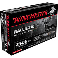 Winchester Ballistic Silvertip 25-06 Remington 115 Grain Polymer Tip Rifle Ammo (20)