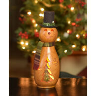 Meadowbrooke Gourds Flurry Small Tall Lit Snowman Gourd