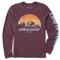 Life is Good Men's Buffalo Scenic LIG Crusher-Lite Long-Sleeve T-Shirt