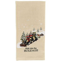 Park Designs Slide Into The Holiday Embroidered Dish Towel