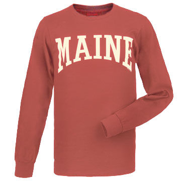 Cape Cod Textile Mens Maine Arch Design Long-Sleeve T-Shirt