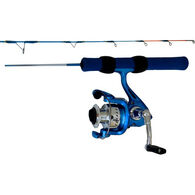 HT Enterprises Ice Blue Spinning Ice Fishing Combo