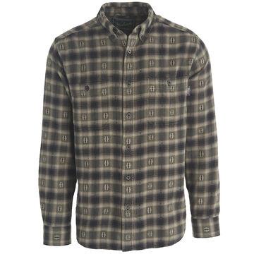 Woolrich Mens Trout Run Cotton Dobby Long-Sleeve Shirt
