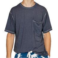 Lazy One Men's Pocket Short-Sleeve PJ T-Shirt