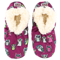 Lazy One Women's Night Owl Fuzzy Feet Slipper