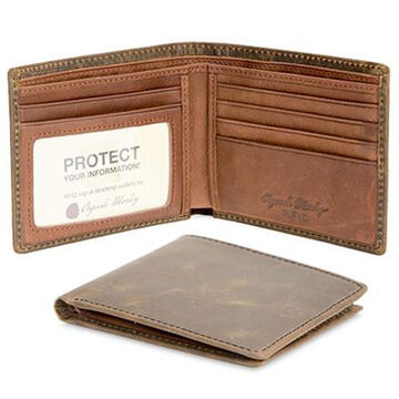 Osgoode Marley Mens RFID Distressed Leather Thinfold Wallet