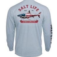 Salt Life Men's Red White and Bite Pocket Long-Sleeve Shirt