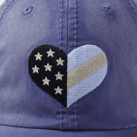Life is Good Women's Flag Heart Sunwashed Chill Cap