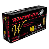 Winchester W Train & Defend 40 S&W 180 Grain FMJ Training Handgun Ammo (50)
