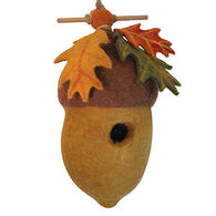 Wild Woolies Pin Oak Acorn Hand-Felted Birdhouse