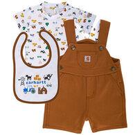 Carhartt Infant Boys' Shortall Gift Set, 3pc