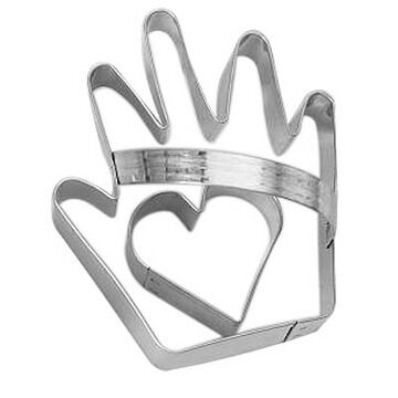Ann Clark Tin Cookie Cutter - Heart and Hand