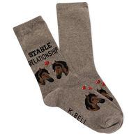 K. Bell Women's Stable Relationship Crew Sock