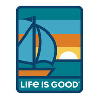 Life is Good Sunset Sail Decal