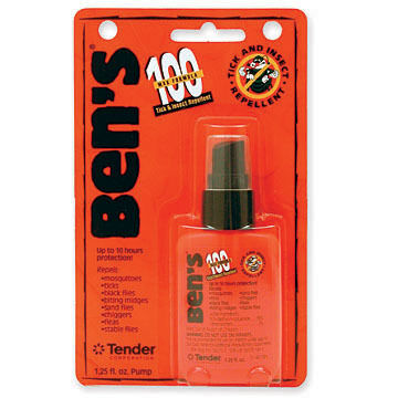 Ben's 100 Max DEET Tick & Insect Repellent Spray - 0.5-3.4 oz.