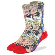 Good Luck Sock Men's Donald Trump Pop Art Crew Sock