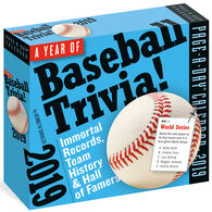 A Year of Baseball Trivia! 2019 Page-A-Day Calendar by Kenneth Shouler