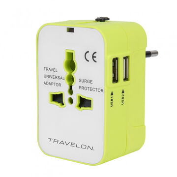 Travelon Worldwide Dual USB Charger Travel Adapter
