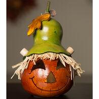 Meadowbrooke Gourds Owen Miniature Scarecrow Jack-O'-Lantern