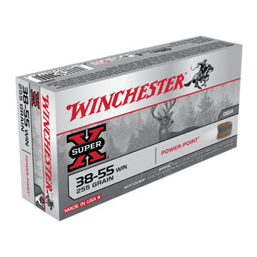 Winchester Super-X 38-55 Winchester 255 Grain Power-Point Rifle Ammo (20)