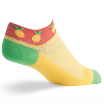 SockGuy Womens Pineapple Bicycling Sock