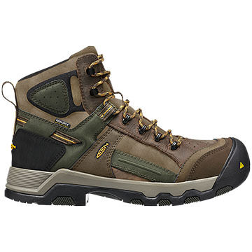 Keen Men's Davenport Mid All Leather Waterproof Work Boot