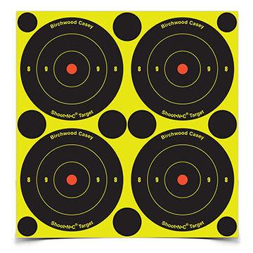 "Birchwood Casey Shoot-N-C 3"" Bull's-eye Self-Adhesive Target - 48 or 240 Pk."