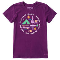 Life is Good Women's All About Camp Crusher Short-Sleeve T-Shirt