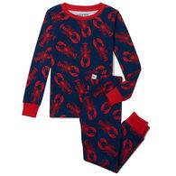 Hatley Boy's Little Blue House Navy Lobster Pajama Set, 2-Piece