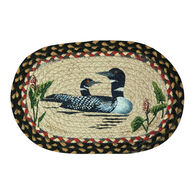 Capitol Earth Oval Loons Swatch Braided Rug