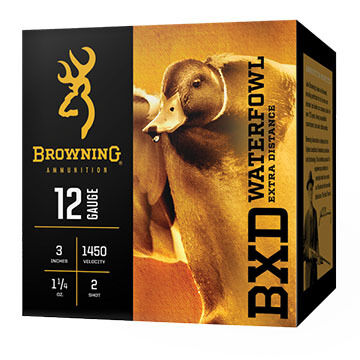 "Browning BXD Waterfowl Extra Distance 12 GA 3"" 1-1/4 oz. BB Shotshell Ammo (25)"