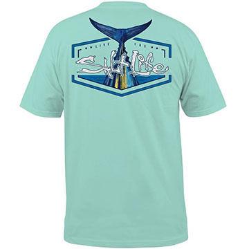 Salt Life Mens Tuna Tail Pocket Short-Sleeve T-Shirt